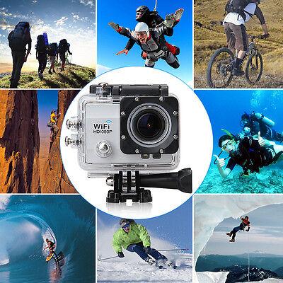 "2"" 30M Waterproof Sports Action Camera 12MP 1080P Full HD WiFi Anti-shake DV US"