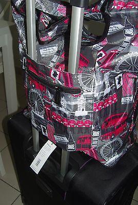Eco Chic London Faltbarer Weekender,Handtasche Shopper Reisetasche, Eule Trolley