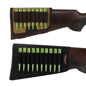 Tourbon-Rifle-Cartridges-Holder-Shooting-Ammo-Carrier-Buttstock-Sleeves-Tactical