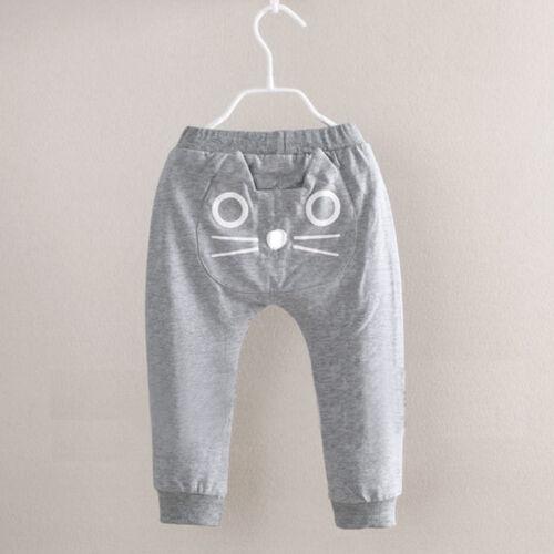 Baby Kinder Jungen Mädchen Katze Hose Freizeithose Sweathose Hosen Traininghose