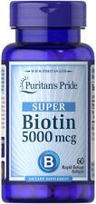 Puritan's Pride Biotin 5000 mcg - 60 Softgels