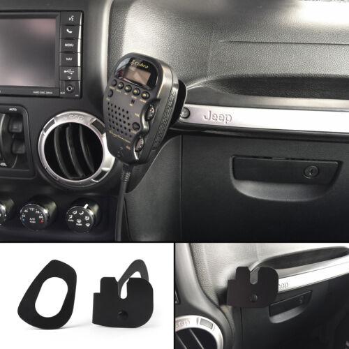 75WXST CB Radio Mic Mount Holder Passenger Grab Bar For Jeep Wrangler JK 2011~ E