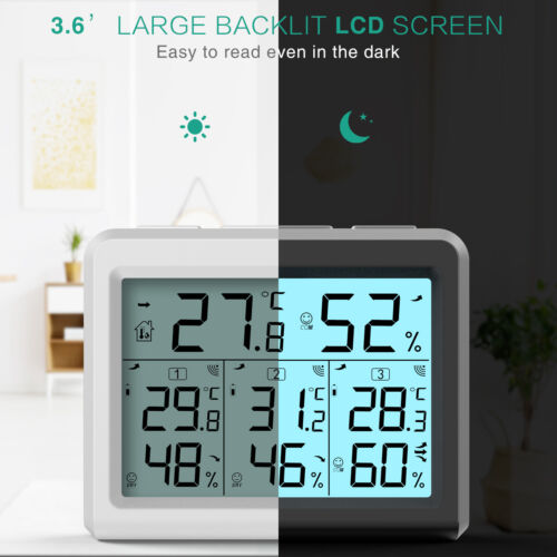 ORIA Digital LCD Indoor Home Room Thermometer Hygrometer Temperature Humidity