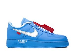 Dettagli su Nike Air Force 1 Off White MCA Blue Size 6.5 US 6 UK 39 EU (WRONG BOX)