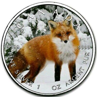 2019 1 Oz Silver $5 Canadian Wildlife PEREGRINE FALCON MAPLE LEAF Coin..