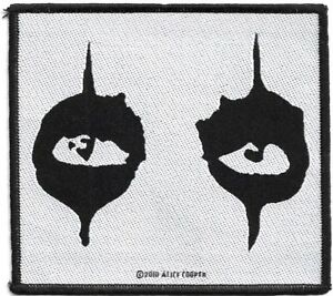 Official-Merch-Woven-Sew-on-PATCH-Rock-ALICE-COOPER-loose-Eyes-Black-White