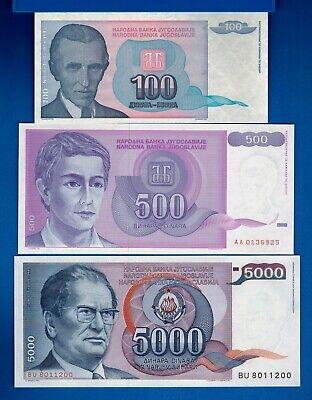 Yugoslavia P-139 100 Dinara Year 1994 Uncirculated Banknote