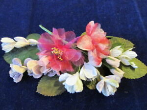Vintage-Millinery-Flower-Collection-Pink-Lilac-w-Velvet-Bouquets-1-3-034-H3497