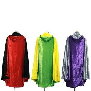 Everfan-Adult-Double-Sided-Hooded-Cloak-Reversible-Hooded-Cape-for-Adults