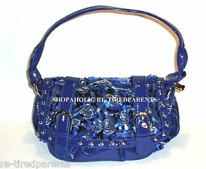Image Is Loading Royal Bodyguard Designer Purse Handbag Blue Patent Sequins
