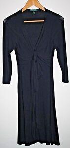 Ralph-Lauren-Women-039-s-Night-Party-Dress-Designer-Black-Bow-Green-Label-Size-XS
