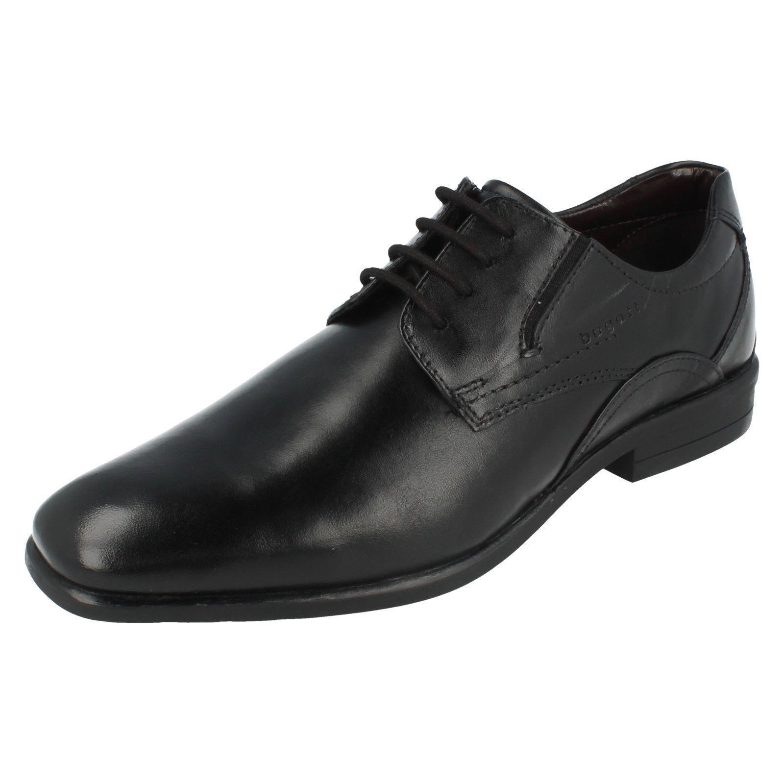 BUGATTI 313-22001-1000 Negro Zapatos Con Cordones