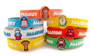 Image Is Loading Allermates Allergy Wristbands Alert Medical Id Silicone Bracelet
