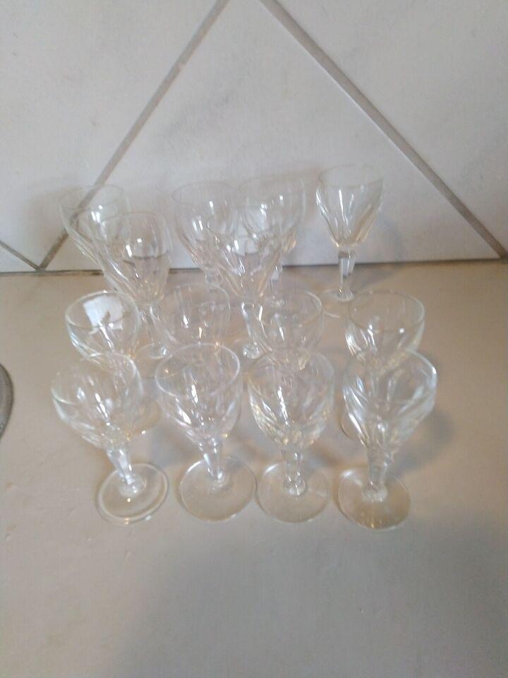 Glas, 6 portvinsglas og 8 snapseglas, Windsor