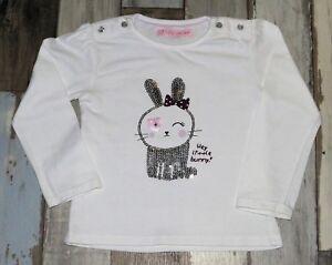 c842e94df27cd SuperbeTee-shirt ML blanc imprimé GEMO fille 3 ans ~