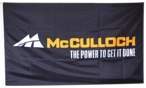 McCULLOCH CHAINSAW FLAG 3x5ft black BANNER