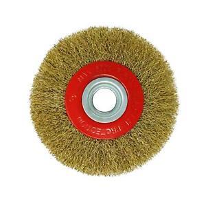 """150 mm amende de 6"""" Brosse métallique roue pour touret withadaptor Anneaux"""