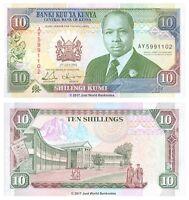 Kenya 10 Shillings 1993 P-24e Banknotes UNC