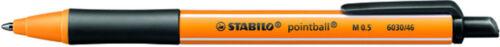 5x Stabilo pointball schwarz 6030//46 Druck-Kugelschreiber Kuli 0,5mm nachfüllbar