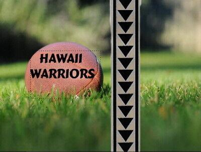 Football Helmet Stripe HAWAII WARRIORS 2020 FULL SIZE