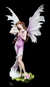 tamano-Figura-Elfos-Nymphaea-con-Nenufar-Hada-Flor-Estatua-decorativa-ROSA