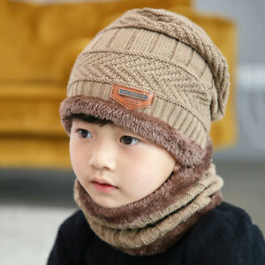 3dfe0cab373 Baby Toddler Kids Boy Girl Winter Warm Knitted Crochet Beanie Hat ...