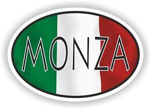 Monza-Ovale-avec-Drapeau-Italien-Autocollant-Italie-Italie-Auto-Moto-Camion