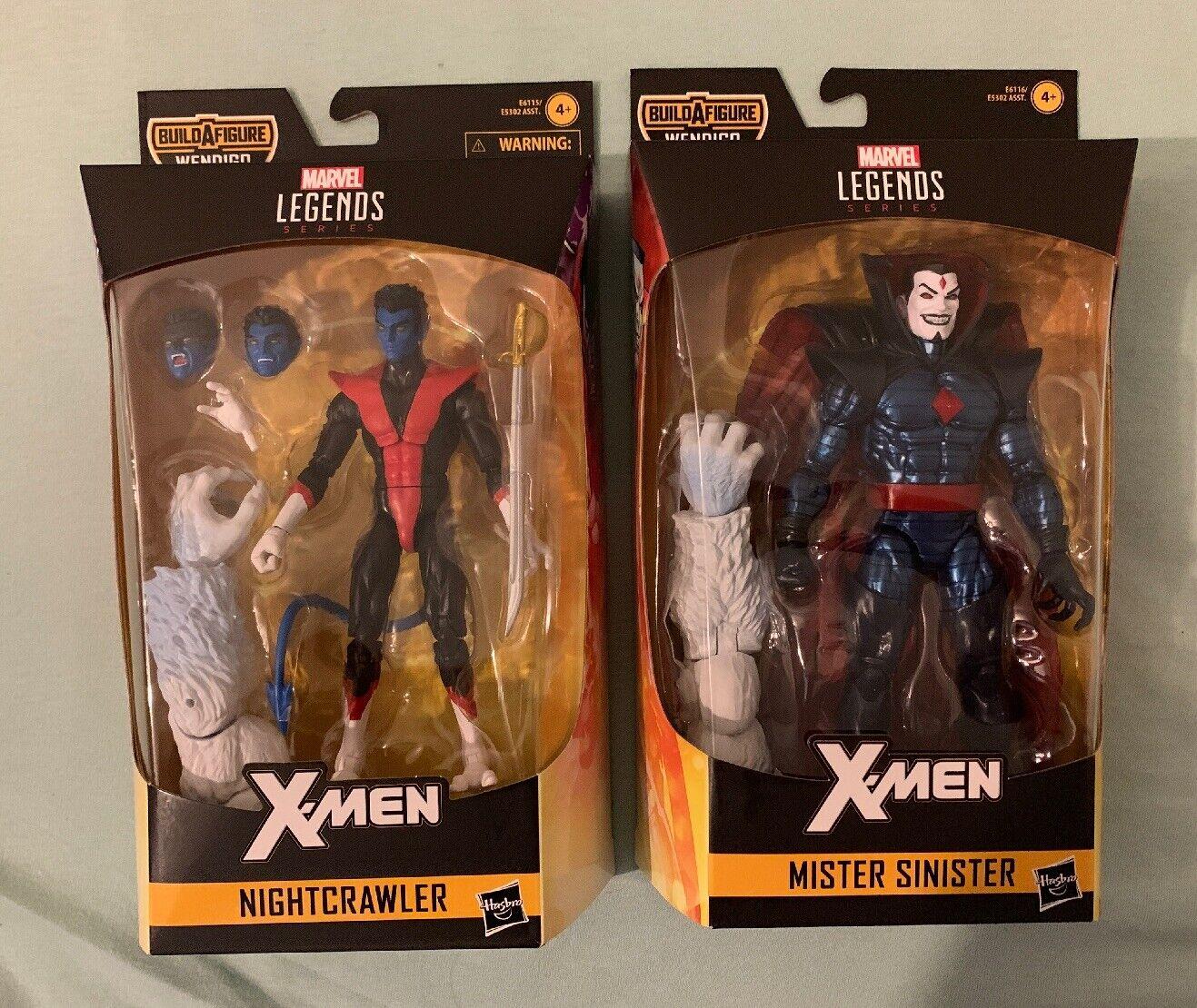 MARVEL Legends X-MEN 6 6  NIGHTCRAWLER & MISTER SINISTER