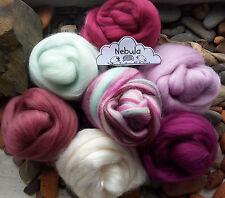Luxury Merino Wool / Tussah Silk roving/ tops / needle felting / spinning 70g