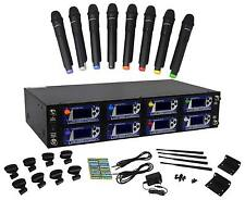 Vocopro UHF-8900 8 Wireless Handheld UHF Microphone System/Adjustable Frequency