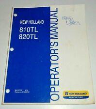 New Holland 810tl 820tl Loader Operators Manual Oem Fits Td55d To T5070 Tractor