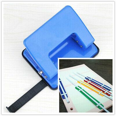 Perforador de Papel Binder Puncher Para Formato A5 Punz/ón Regulable y Extra/íble Para 6 Agujeros