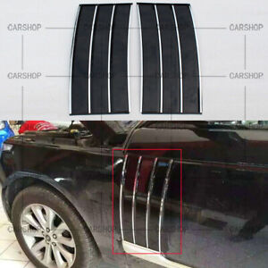 Piano Black Front  Windshield Hood Trim Cover For Range Rover Vogue LR405 13-17