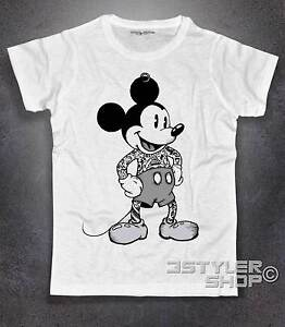 T-Shirt MICKEY MOUSE TATTOOED Topolino tätowiert Amazink