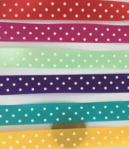 Strip-Of-Cloth-Ribbon-With-Spots-3-Metres-x-1-20cm-Wide-Tumdee-Dolls-House-ML