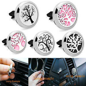 Stainless-Steel-Car-Vent-Clip-Locket-Scent-Essential-Oil-Diffuser-Air