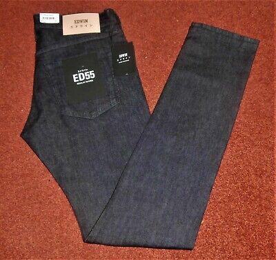 """Edwin Ed 55 Regolari Conico Selvage Cs Rosso Elencati Blue Jeans W29"""" L34"""" F900- Elegante Nell'Odore"""