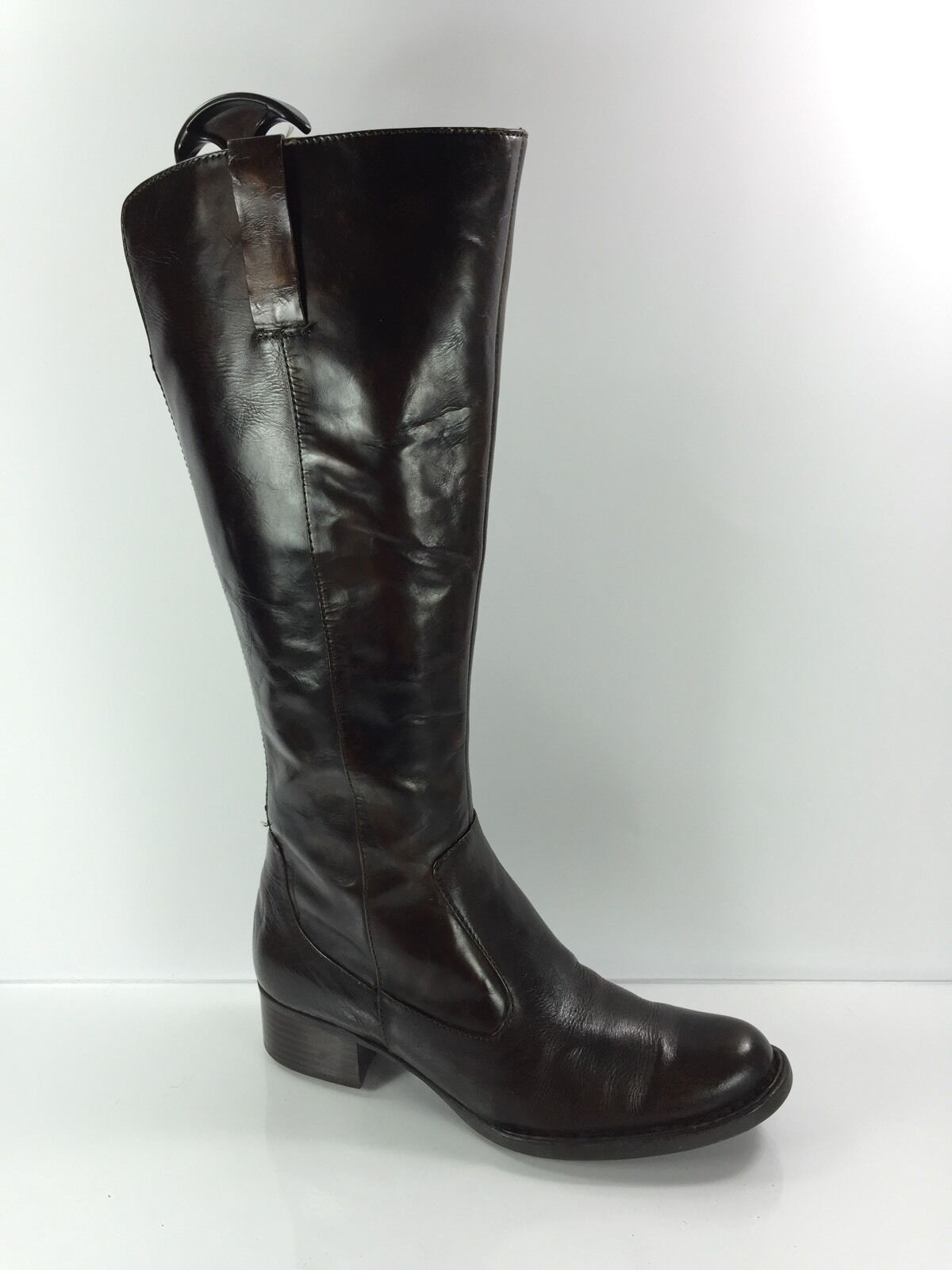 Børn Crown Womens Dark Brown Leather Knee Boots 6.5