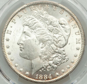 BRIGHT-LIKE-SUN-SHINE-1884-Carson-City-1-Morgan-Silver-Dollar-PCGS-MS63