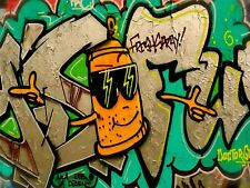 ART PRINT POSTER PHOTO GRAFFITI MURAL STREET HAPPY SPRAY CAN NOFL0227
