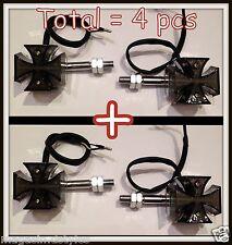 [X4 pcs] 2 paires de clignotants Croix De Malte Noir à LED ( moto custom trike )