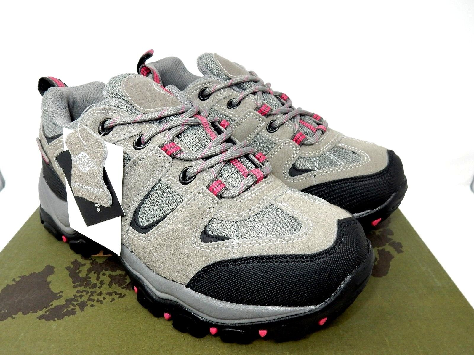 Northwest Territory Women's Waterproof Leather Walking Hiking shoes Trainers