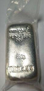 Umicore 250g Silver Bullion Bar 999.0 SEALED
