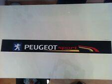 Sticker autocollant  Bande Pare Soleil Peugeot Sport 106 Rallye 1 NOIR BLACK