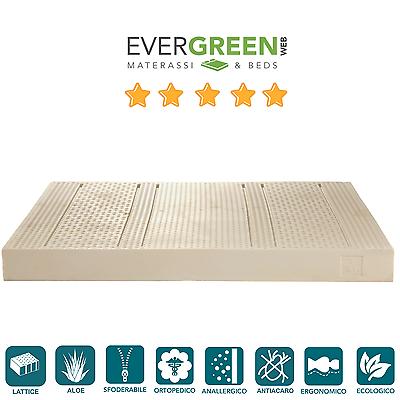 Iniziativa Materasso 85x200 Singolo Lattice 7 Zone Tessuto Sfoderabile Aloe Vera Ecologico