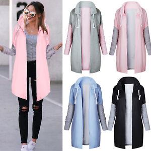 Women-Winter-Hooded-Jacket-Long-Coat-Cardigan-Trench-Parka-Casual-Outwear-Jumper