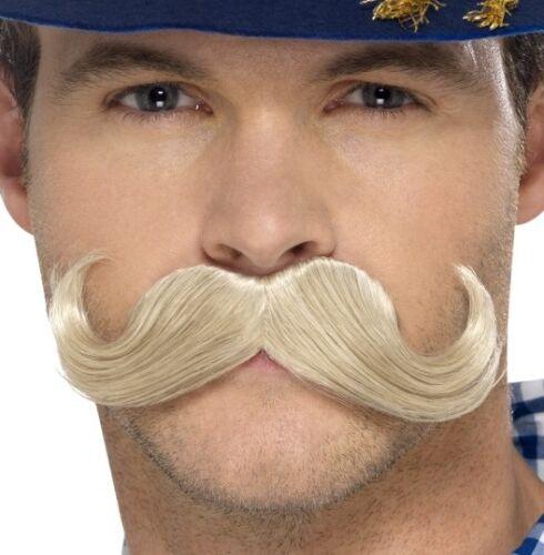 Homme oktoberfest bavarois déguisement tash stick moustache blonde par smiffys.