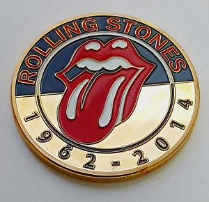 Détails sur Rolling Stones Gold Coin Pop Music 60s Retro London Band Songs  Logo Silver Train