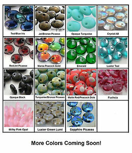 50-Top-drilled-6mm-Lentil-Czech-Glass-Beads-Choose-Color-New-Colors-Added