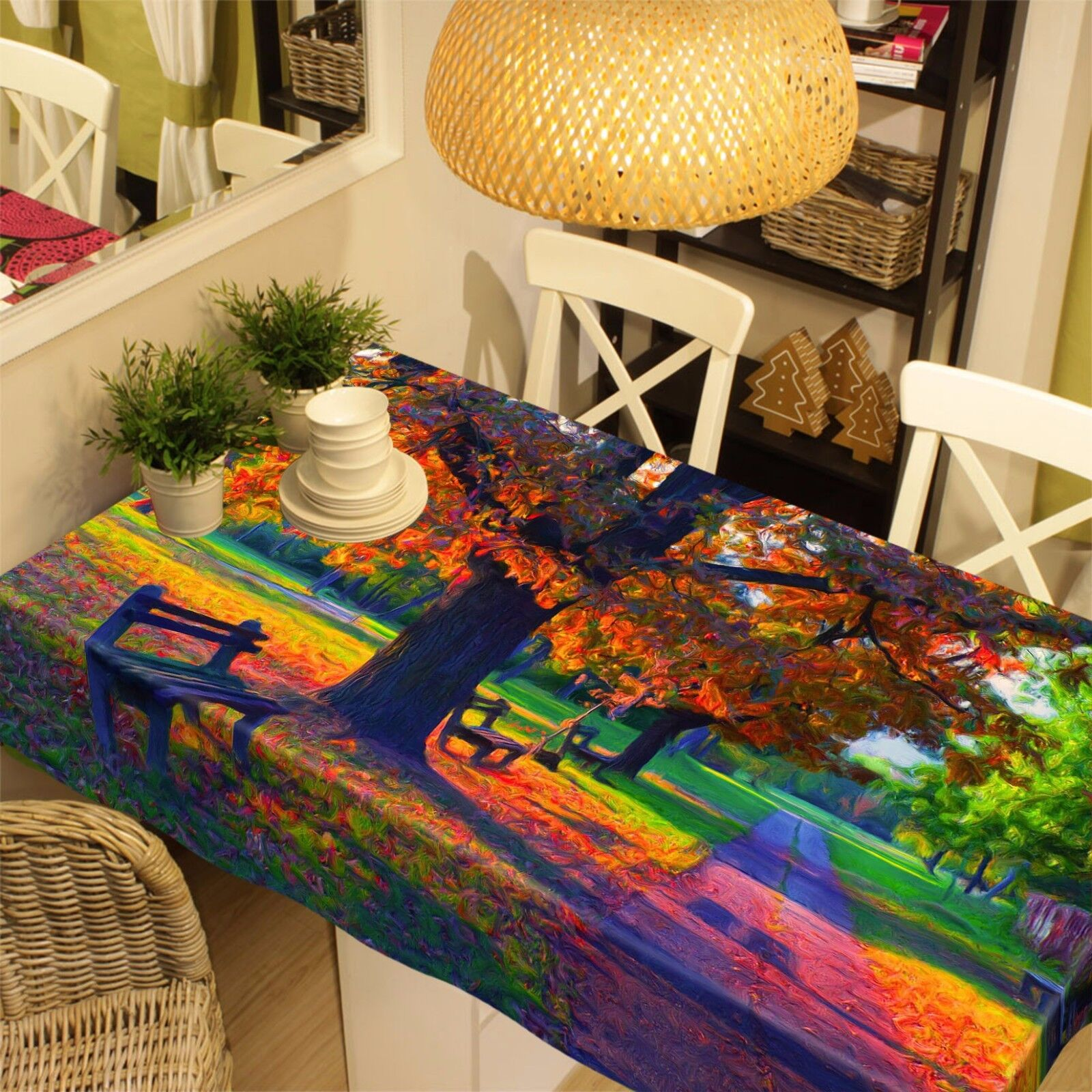 3D Rainbow 897 Tablecloth Table Cover Cloth Birthday Party Event AJ WALLPAPER